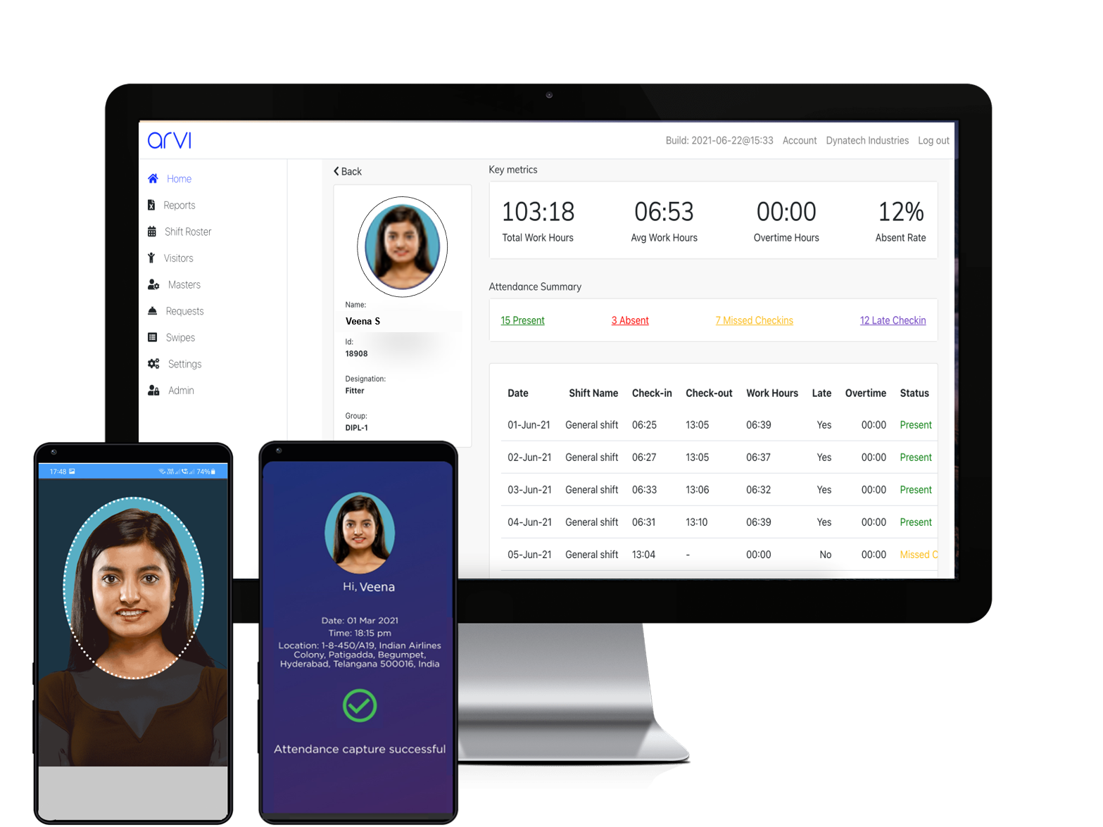 Face-recognition based time & attendance tracking